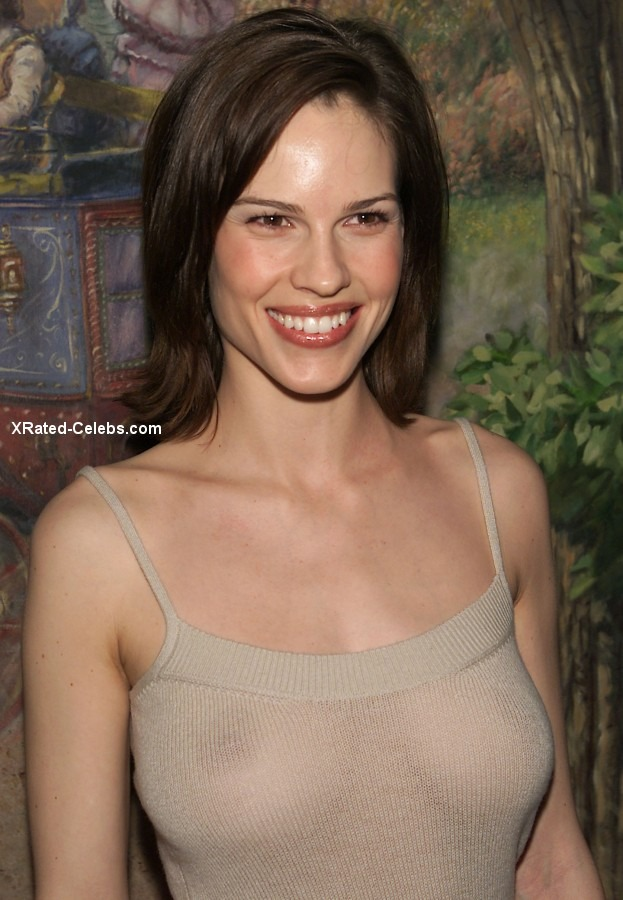 Topless hilary swank Actresses Who